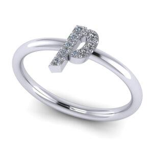 Custom Made Pave Diamond Name Ring Buy Online Malaysia