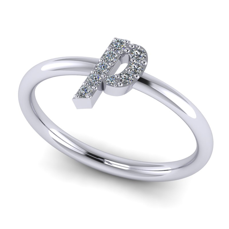 pave customise ring for her gifting present