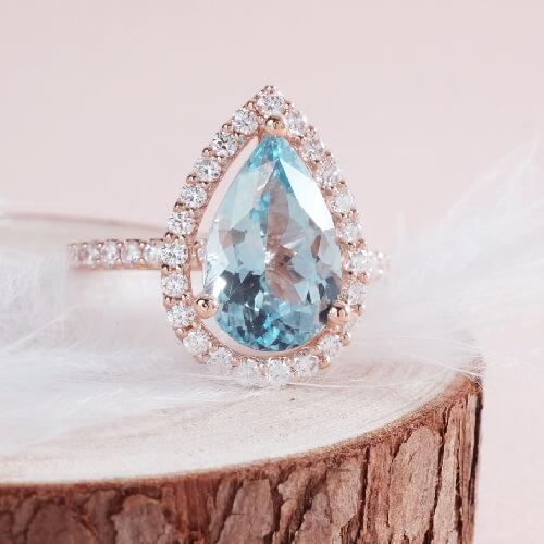 Aquamarine Engagement Ring Online Malaysia