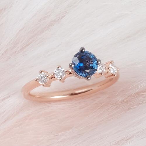 Gemstone Sapphire Engagement Ring Online Malaysia