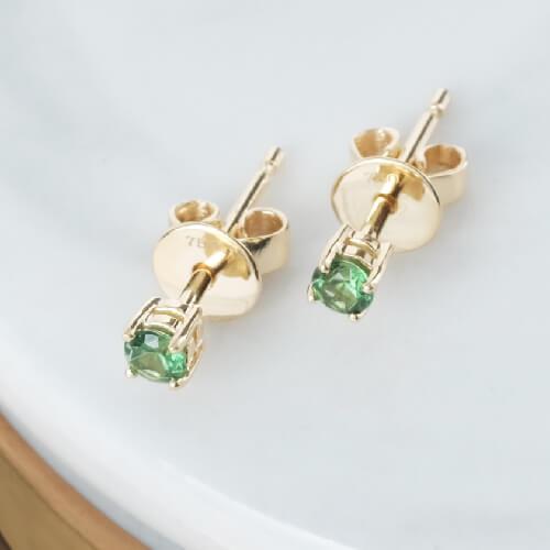 Gemstone Emerald Earring Stud Online Malaysia
