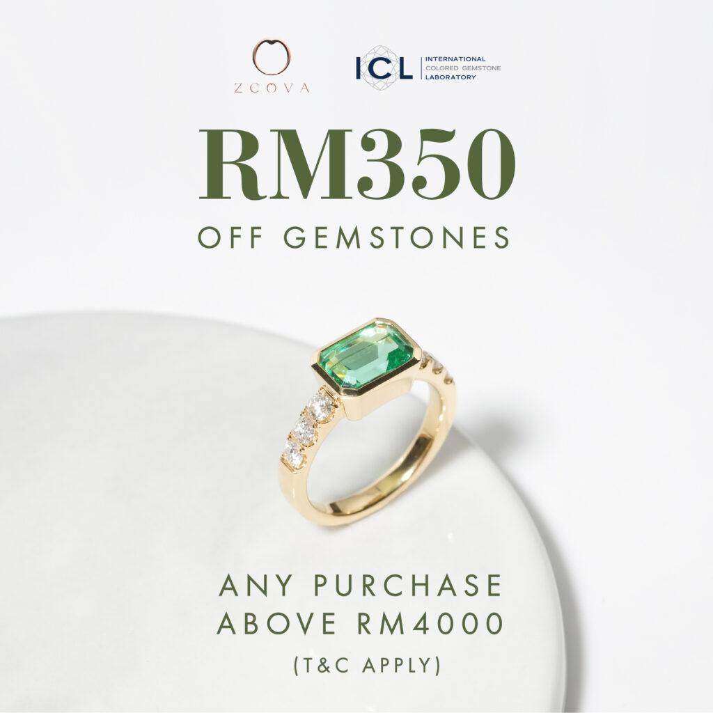 gemstone promotion rm350 off coloured gemstone malaysia