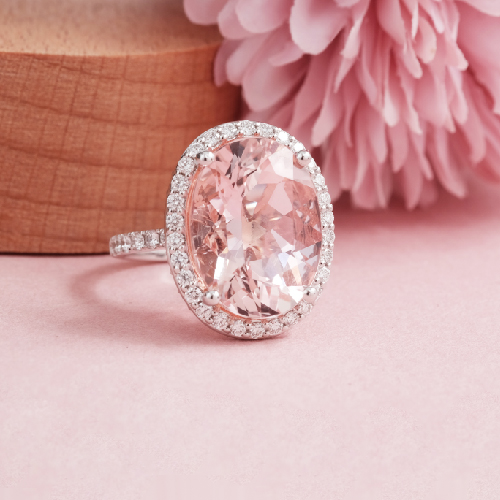 Pink Morganite Engagement Ring Online Malaysia