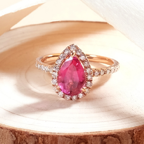 Pink Spinel Engagement Ring Online Malaysia