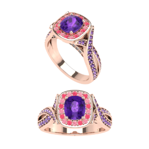 Purple Amethyst Dinner Ring for Female Buy Online Malaysia