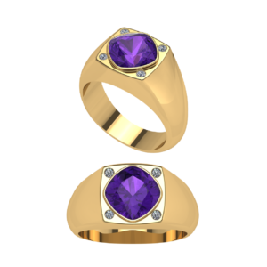 Purple Amethyst Dinner Ring for Male Buy Online Malaysia