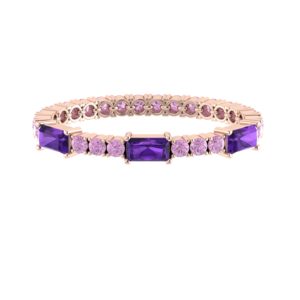 Tennis Bracelet Purple Amethyst Gemstone Buy Online Malaysia