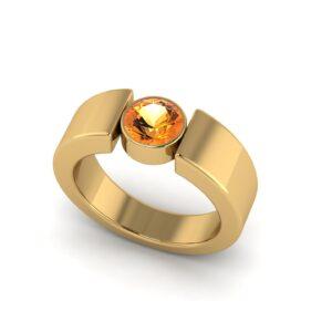 Customised Yellow Sapphire Gemstone ring on 18k Yellow Gold Buy Online Malaysia