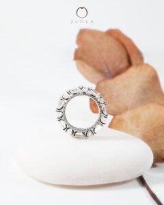 ZCOVA GIA emerald and round shape diamond eternity band