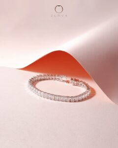 ZCOVA GIA emerald shape diamond tennis bracelet
