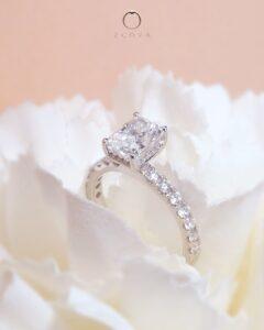 ZCOVA GIA radiant shape diamond hidden halo ring malaysia