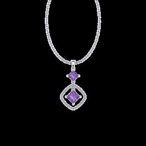 Necklace Purple Amethyst Gemstone Buy Online Malaysia