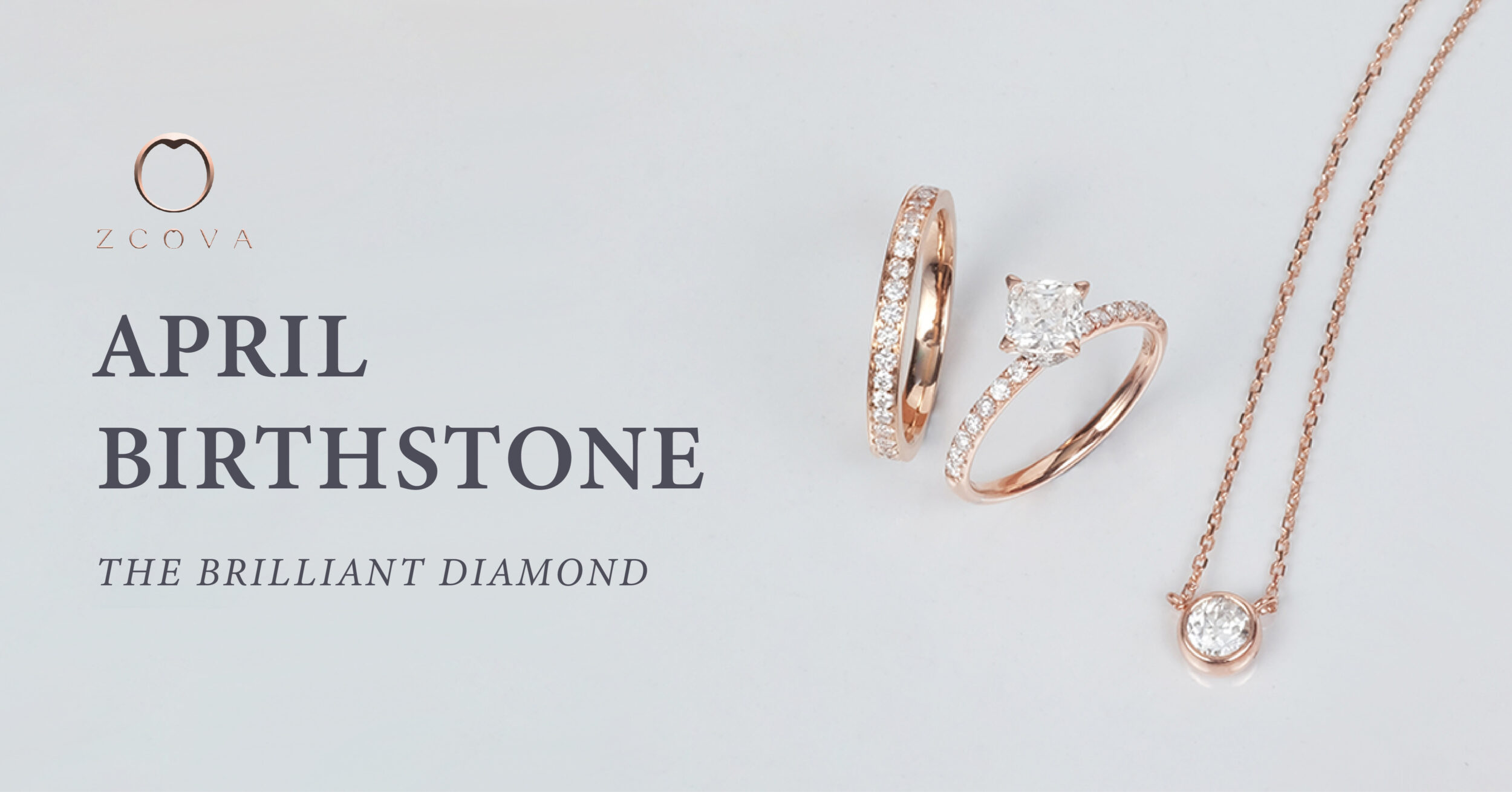 april birthstone brilliant diamond jewellery zcova