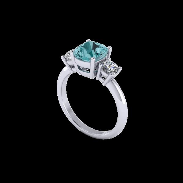 Dark Blue Aquamarine Gemstone Ring Inspiration