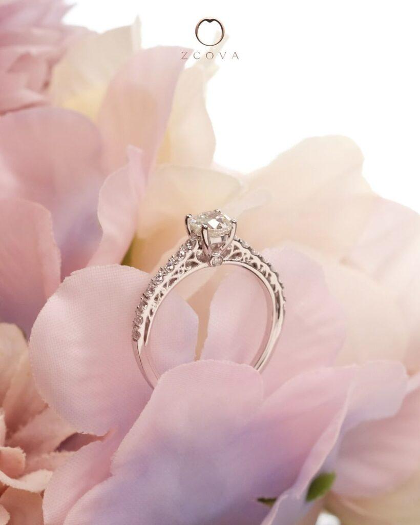 Cincin Nikah Kahwin berlian GIA Perempuan ZCOVA