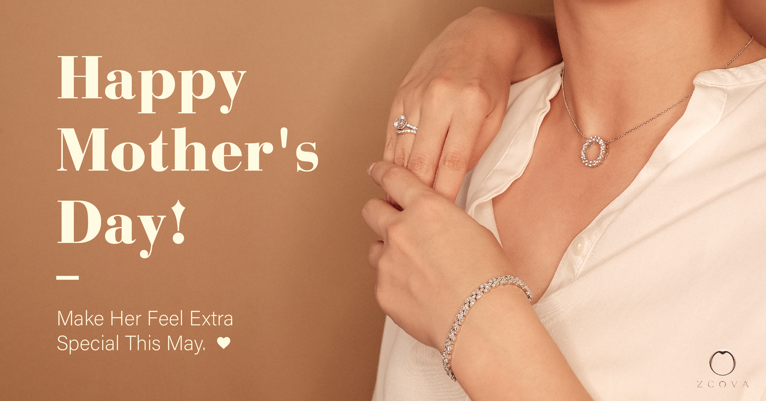 Gifting for mother's day diamond ring, diamond necklace, diamond bracelet in 18k gold malaysia