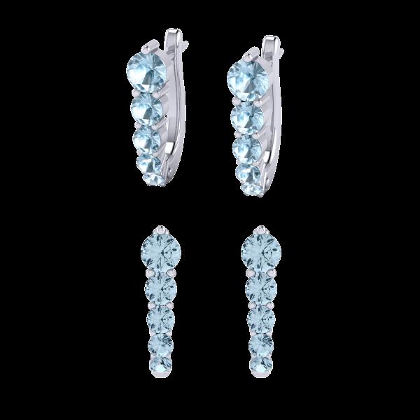 Aquamarine gemstone earring inspiration