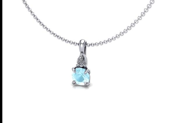 Aquamarine Gemstone Pendant Necklace