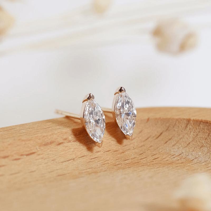 GIA Marquise Diamond Earrings in 18K Rose Gold Malaysia