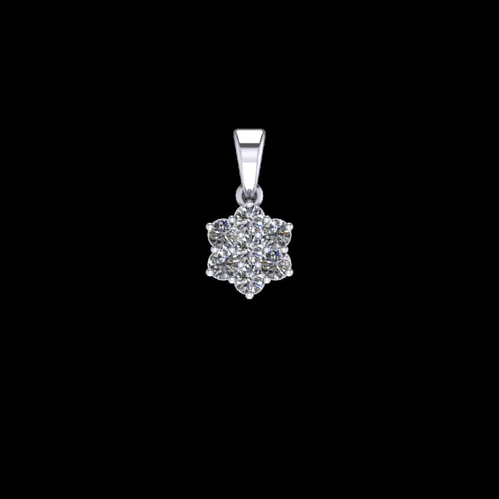 Astrid Pendant illusion setting snowflake flower diamond pendant necklace