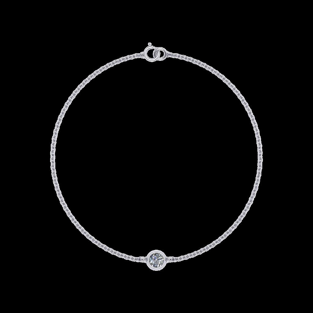 Anna diamond bracelet in 18K White Gold