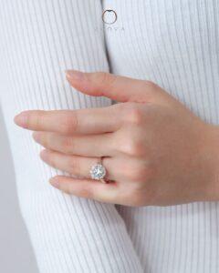cincin kahwin berlian GIA 3CT emas putih ZCOVA