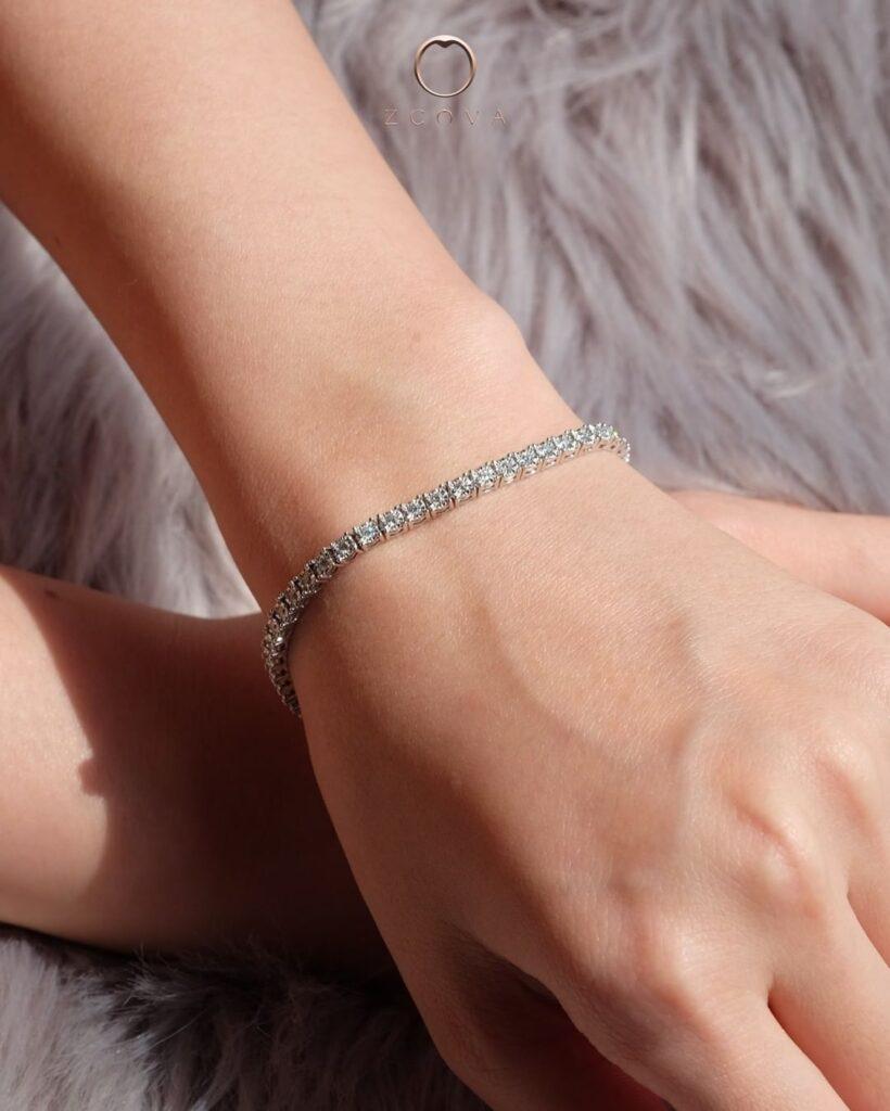 rantai tangan berlian tennis bracelet ZCOVA Malaysia