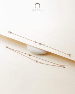 rantai tangan emas ros dengan berlian dari ZCOVA