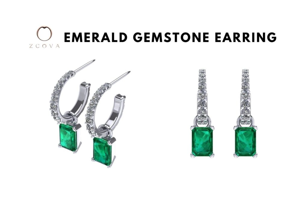 Emerald Gemstone Earring