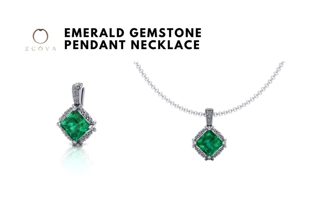 Emerald Gemstone Pendant Necklace