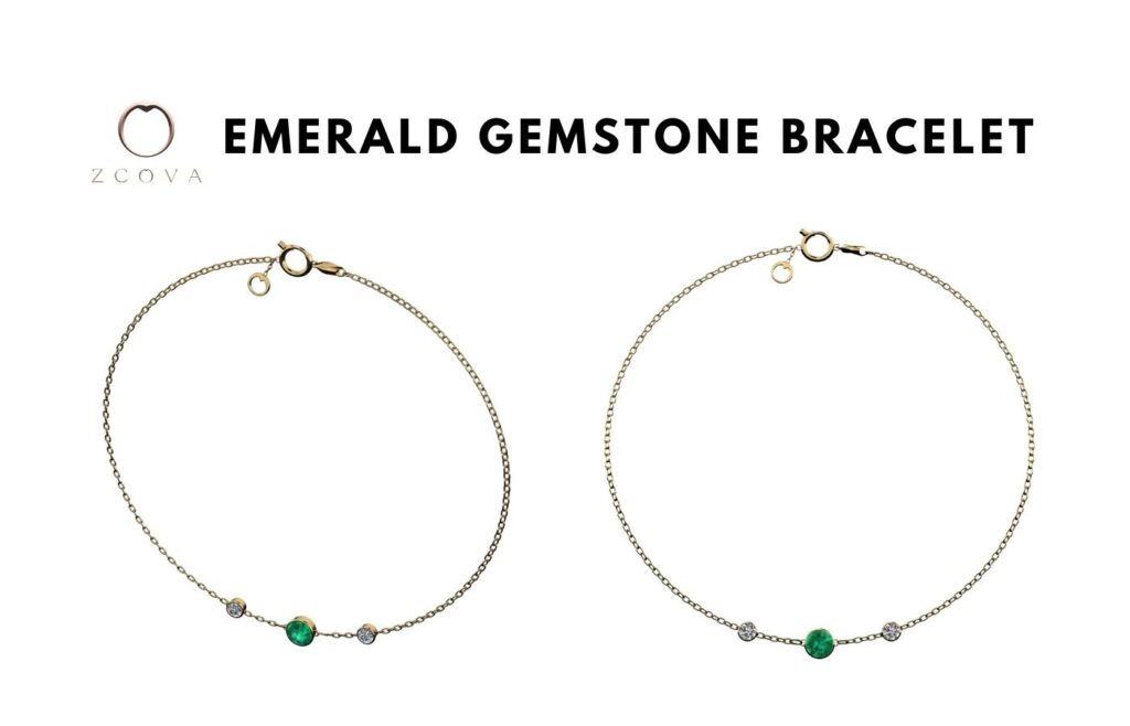 Emerald Gemstone Bracelet
