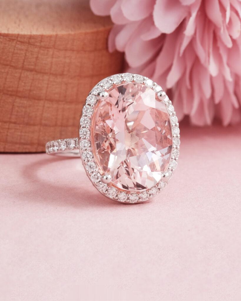 Pink Morganite Gemstone Ring