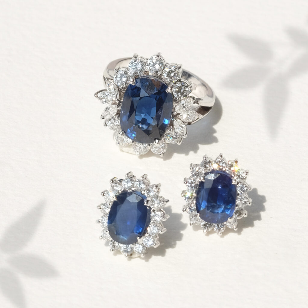 inspired engagement ring from Princess Diana's Blue Sapphire and diamond ring