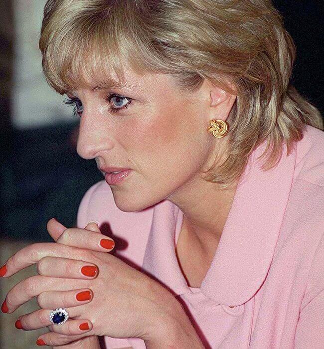 Royal Blue Princess Diana Ring