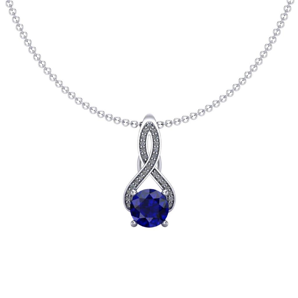 Queen Elizabeth customised Blue Sapphire necklace