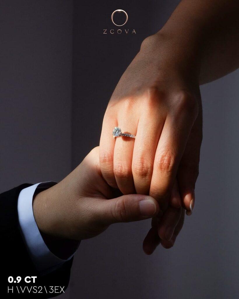 0.9CT Jenri Pave Engagement Ring