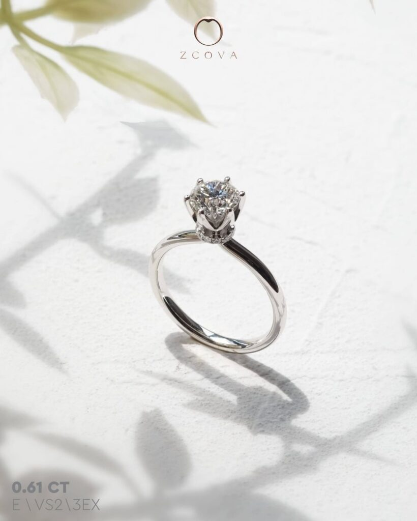 0.6CT Lia 6 Prong Solitaire Engagement Ring