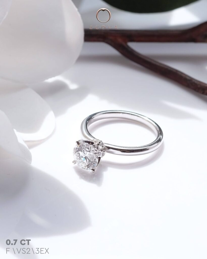 0.7CT Round Lia 4 Prong Solitaire