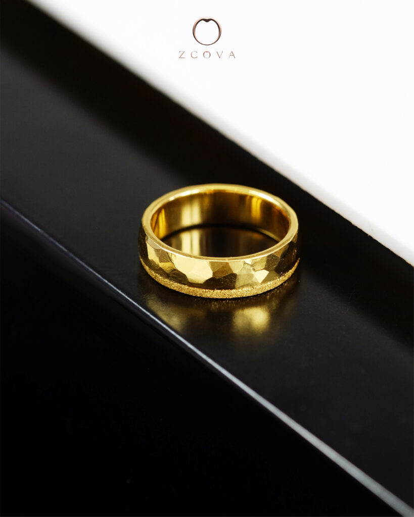 wedding band plated with 24K gold