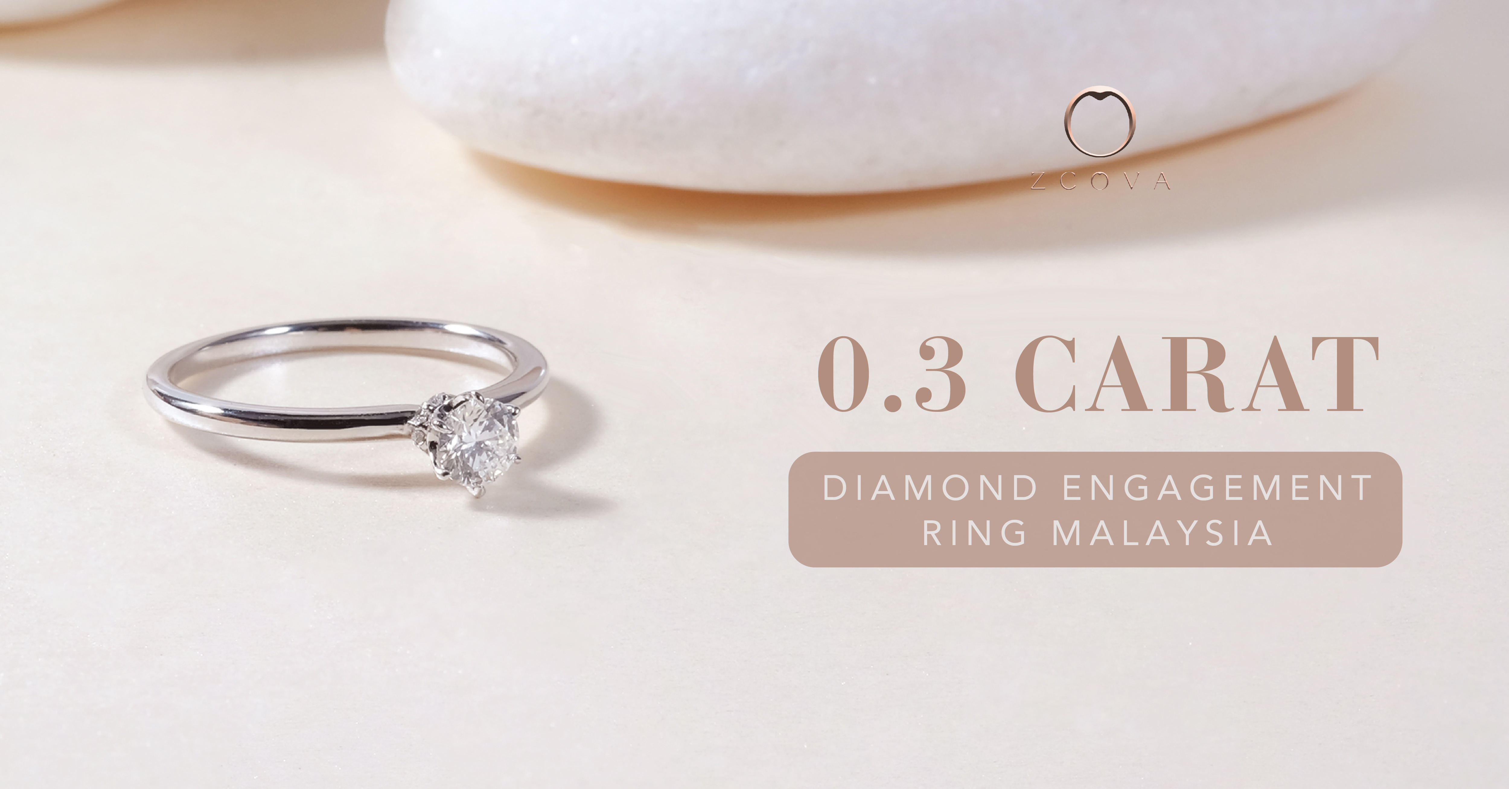 0.3CT Diamond Engagement Ring
