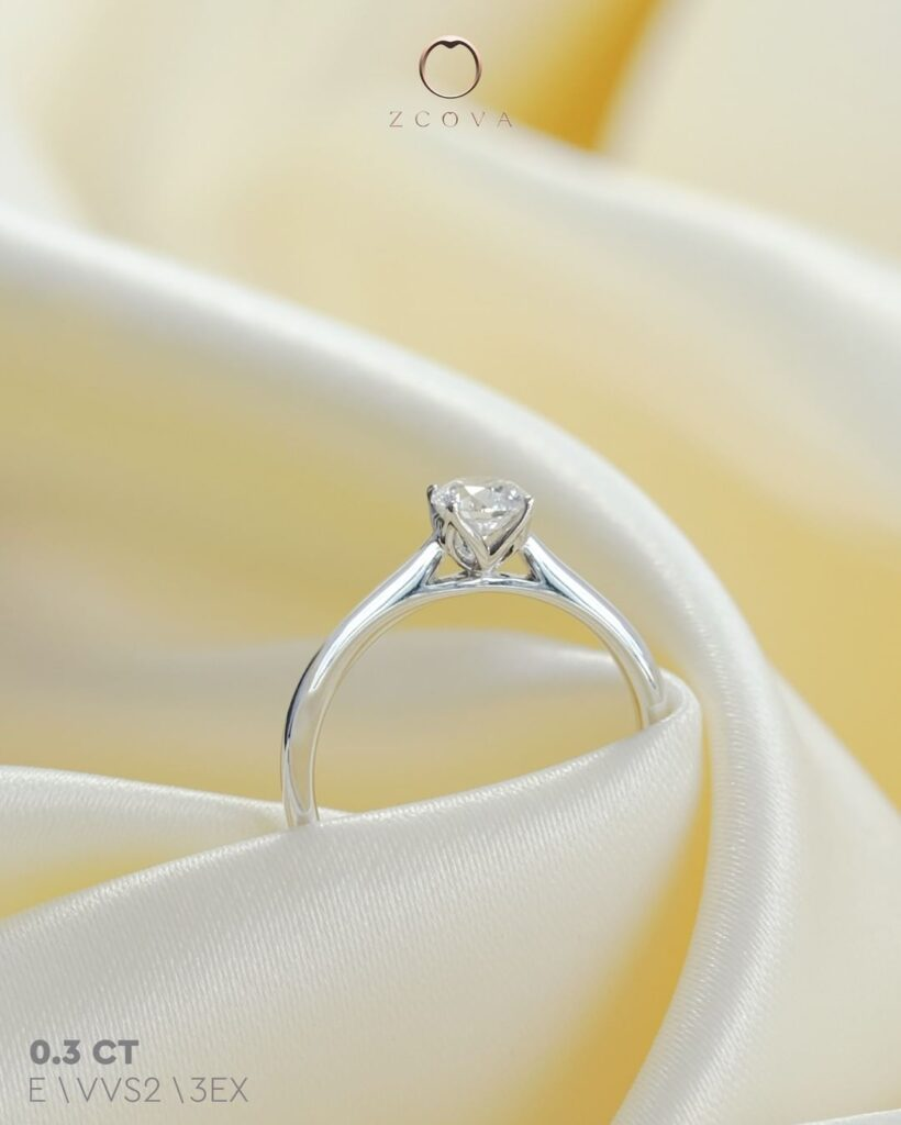 Tulip Cathedral Engagement Ring