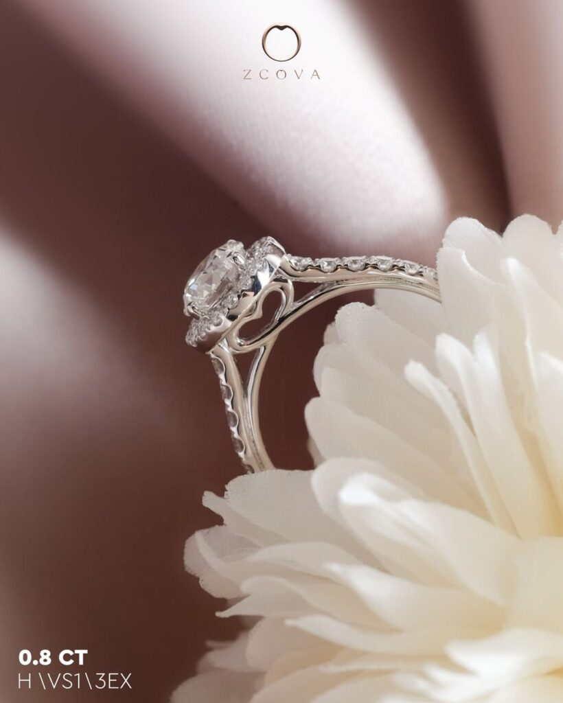 Ame Engagement Ring with hidden heart
