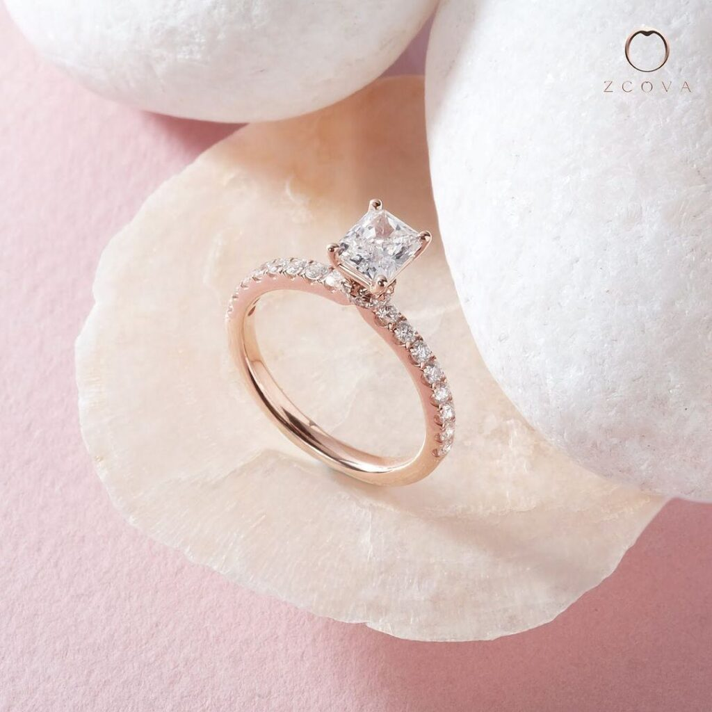 Radiant Pave Engagement Ring