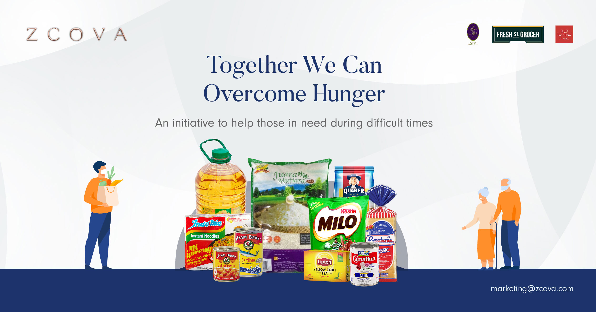 Together We Can Overcome Hunger blog banner