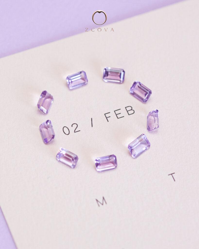 February Birthstone Amethyst Gemstone