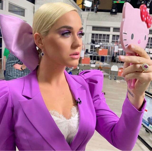 Katy Perry Amethyst gemstone earring