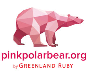 PinkPolarBear logo zcova greenland ruby responsibly sourced red ruby and pink sapphire