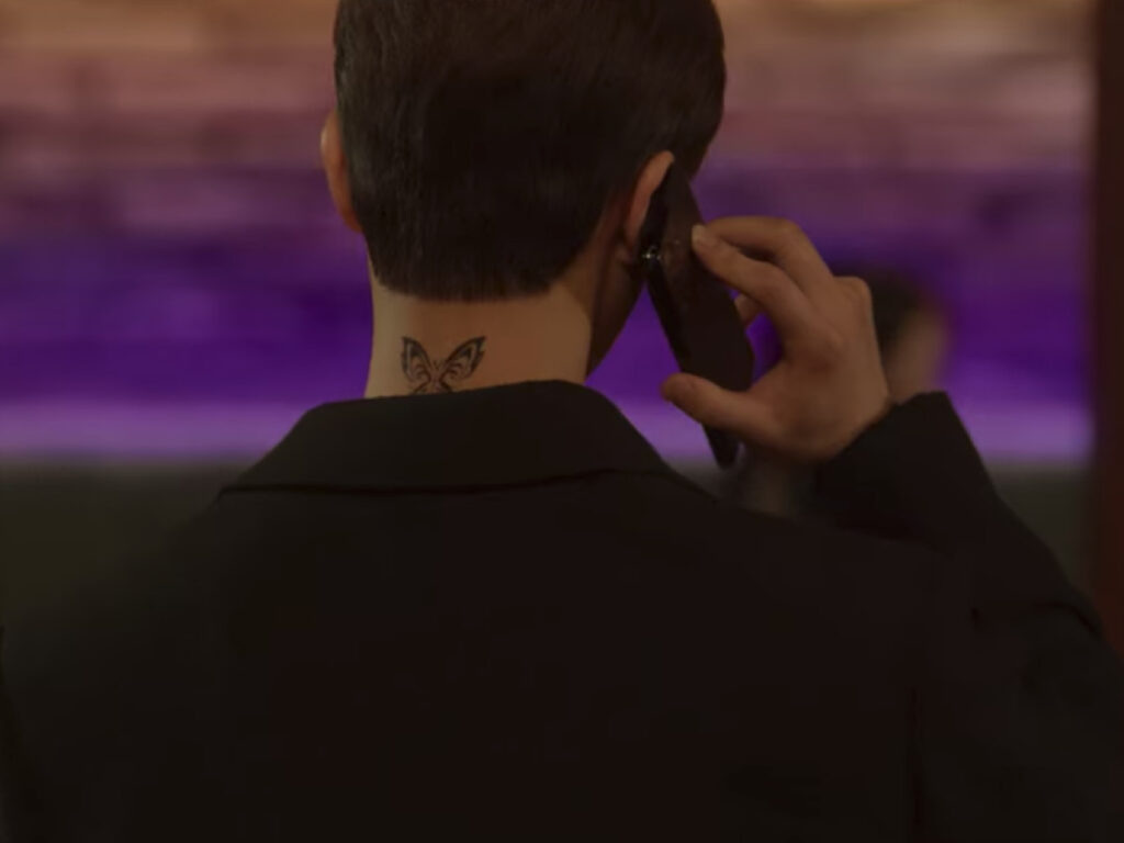 Butterfly tattoo from Nevertheless kdrama