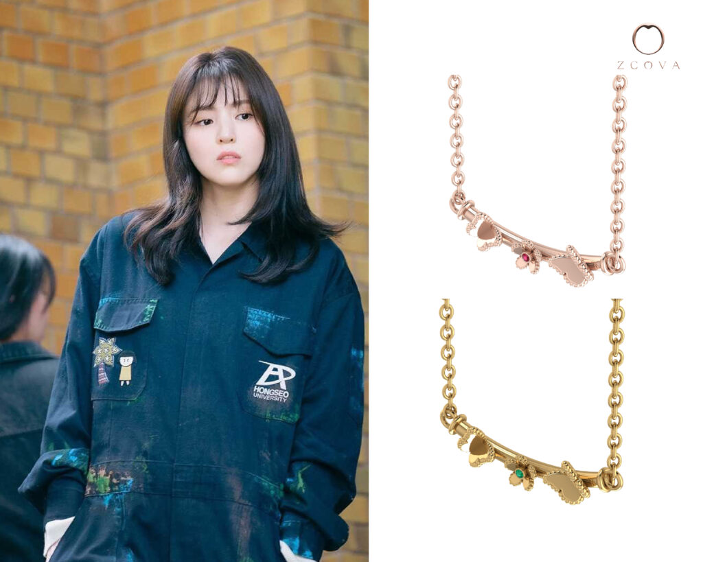 Single Line Smile Butterfly Necklace inspired by Han So Hee from nevertheless kdrama
