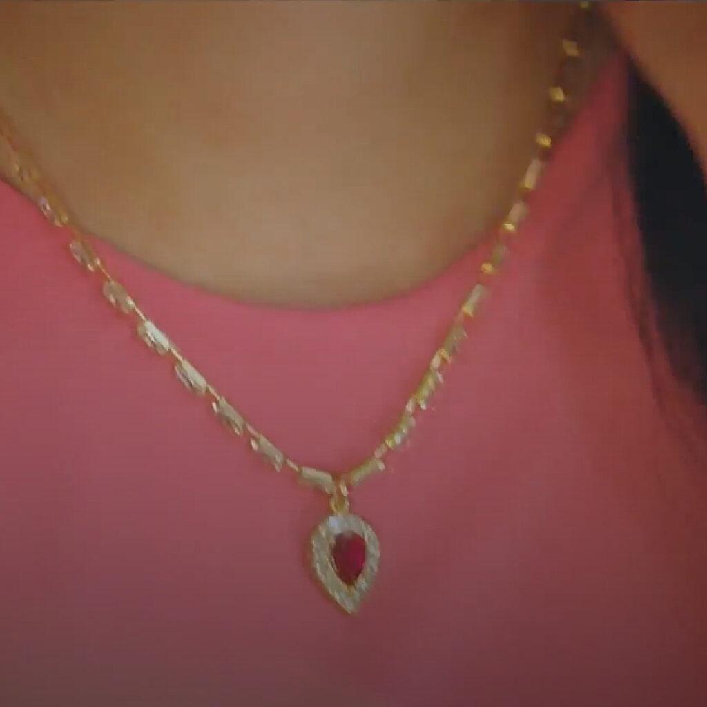 Ruby Waterdrop Jewellery Set Penthouse Kdrama